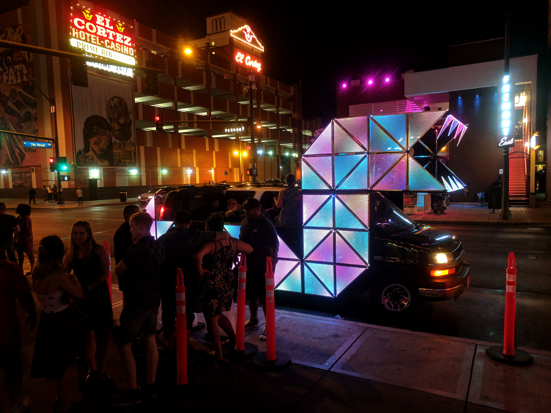 Art car ran every weekend for a month.