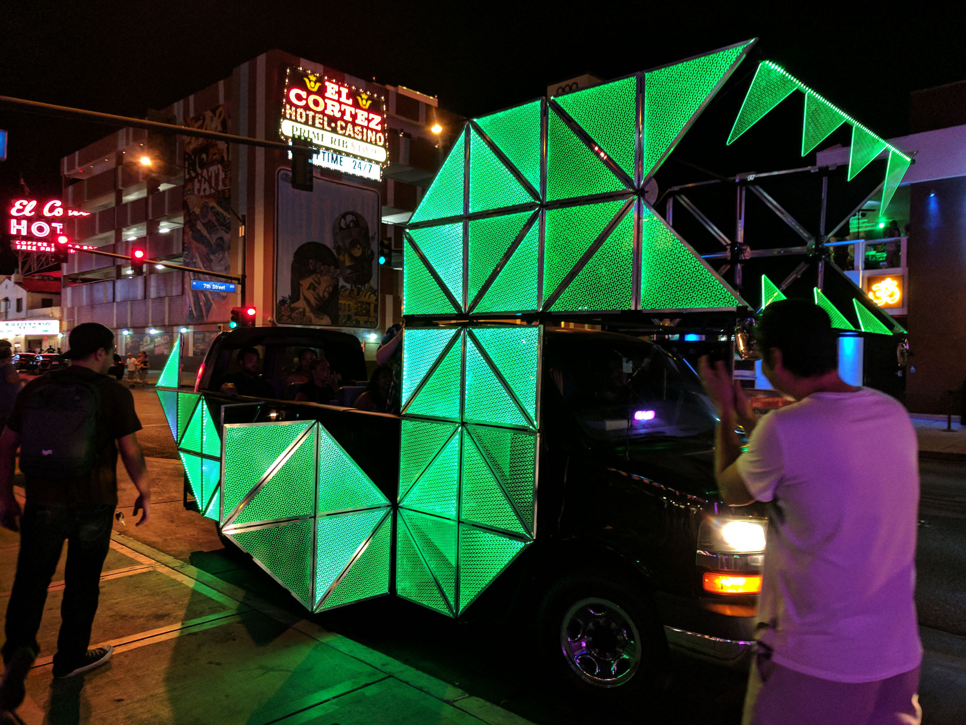LED art car by Justin Mitchell