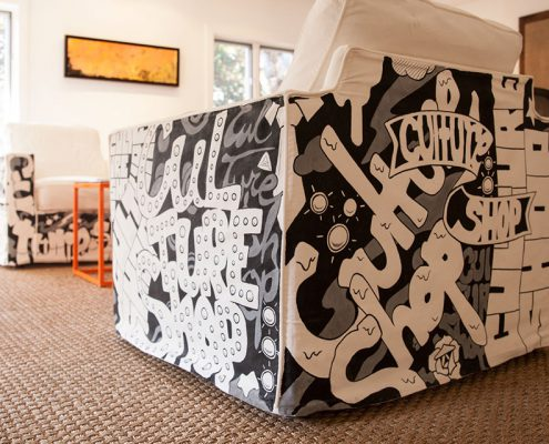 Typography Painted Furniture