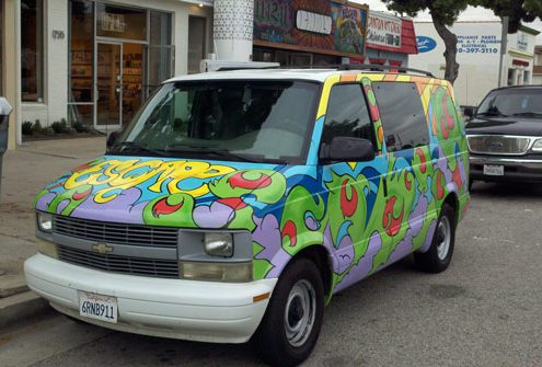 Escape Camper Van Painted by Justin Mitchell